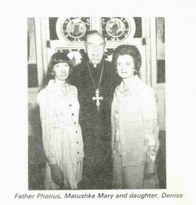 The Founder, Fr. Photius (Donahue) and his family
